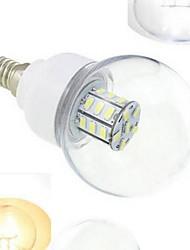 7W E14 Круглые LED лампы 27 SMD 5730 648 lm Тёплый белый / Холодный белый DC 12 / DC 24 V 1 шт.