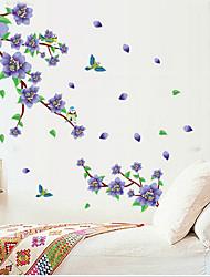 flor roxa tags de rattan PVC removível ambientais&adesivo