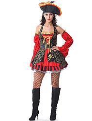 Costumes - Pirate - Féminin - Halloween - Robe/Ceinture/Chapeau