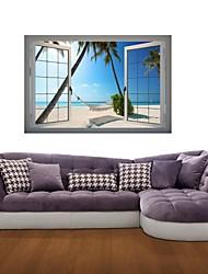 3d stickers muraux autocollants de mur, des hamacs décor de plage vinyle stickers muraux