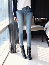 kvinners uformelle mikro elastiske mellom jeans bukser (denim)