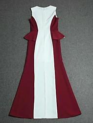 vestido de algodão de malha elástica Nayi