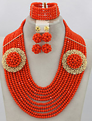 Indian Bridal Jewelry Set Nigerian Beads Jewelry Set for African Wedding