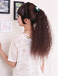 High-Temperature Wire Wig Korea Beautiful Chestnut Brown Ponytail Hot Corn