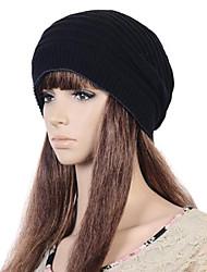 Frauen-Mode Persönlichkeit warmen zweiseitige Dual-Use-gestreiften Rollkragen Hut