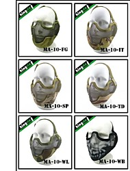 "MA-10-03 Face Steel ""Striker mask"" Gen2 Metal Mesh Half Face Military Mask"