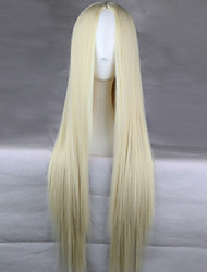 The New Animation Carved White Long Straight Hair Wig 80CM