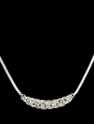 Collier ( Alliage , Argent ) Strass