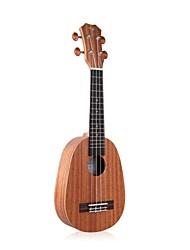 """Tom 21 """"ukulele soprano mogno abacaxi com corda aquila rosewood"""