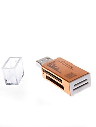 836 USB 2.0  480MBPS Four in One Memory Card Reader Supports TF/ SD/MS and M2