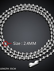 colar maya forma simples homem ousado talão cadeia de aço inoxidável (cinza) (1pcs)