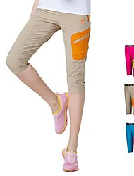 Outdoors Women's Summer Polyester Blue Khaki and Red Colors Quick-drying Sweat Absorbing Pants