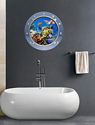 3d stickers muraux stickers muraux, salle de bains marins animale murales décoration murale PVC autocollants
