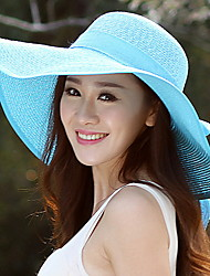Summer Straw Bow Floppy Hat