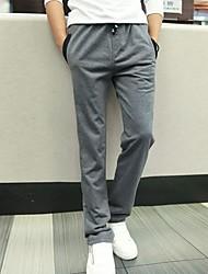 de los hombres casual / Tallas grandes pantalones deportivos puros (algodón)