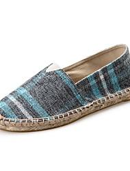 Zapatos de Hombre Mocasines Casual Tela Gris / Beige