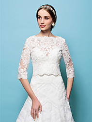 Wedding  Wraps Capelets Lace White/Beige