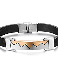 Z&X®  Men's Fashion Trend Titanium Steel Leather Bracelet