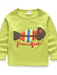 Girl's Fashion All-Matching Fishbone Tees