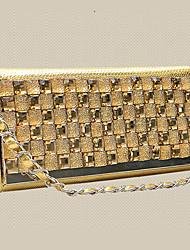 VUITTON® Women PU Flap Shoulder Bag / Clutch - Gold / Silver / Black