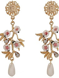Earring Drop Earrings Jewelry Women Gemstone & Crystal / Alloy 2pcs Silver
