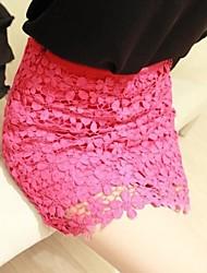 Women's Sexy Lace Bodycon High Waist Stretchy Thin Mini Skirts
