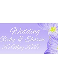 Personalized Wedding Product Labels Flower Pattern Lilac Film Paper