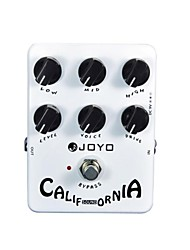 Joyo JF-15 California Sound Distortion Guitarra Guitar Parts Effect Pedal True Bypass 6 Adjusting Knobs