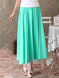 Sagetech®Women's Solid Color Long Chiffon Skirt (More Colors)