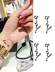 Love Symbol Personality Letters Tattoo Stickers Temporary Tattoos(1 pc)