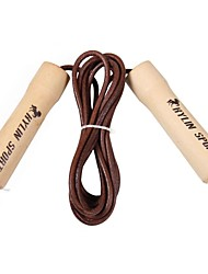 KYLIN SPORT™ Premium Cowhide Rope Skipping with Solid Wood Handles