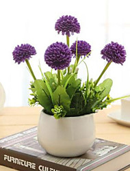 hyfrangeas roxo artificial flores com vaso