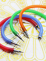 caneta flexível pulseira estilo tinta azul esferográfica (cor aleatória)