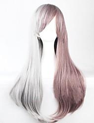 Fashion Cartoon No Capacitance High Temperaturesilk Red Ash Mixture  Color wig