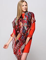 Zizhen seda ocasional lenço quadrado das mulheres