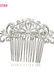New Neoglory Jewelry with Charming Flower and Clear Zircon Hair Comb for Wedding/Lady Daily/Pageant