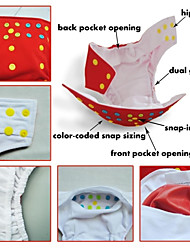 Alva Washable Reusable Adjustable Baby Cloth Diaper Double Gusset Nappy Colored Snaps