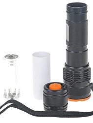 Romisen rc-c8 3-mode cree lente convexa Q5-wc lanterna LED (210LM, 1 * 18650/2 * CR123A / 3 * aaa, preto)