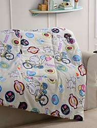 Multi Color 100% Synthetic Microfiber Twin Comforter