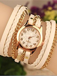 Women's 2015 The Latest Fashion  Chained  Leather  Quartz Watch Hot Sale(Assorted Colors) Cool Watches Unique Watches