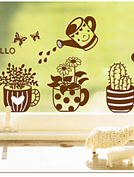 Environmental Removable Watering the Flower PVC Wall Sticker