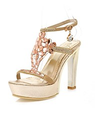 Women's Shoes Chunky Heel Peep Toe Sandals with Rhinestone Shoes Dress More Colors available