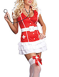 Sexy Red Spandex Nurse Suit