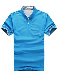 Polos ( Schwarz/Blau/Grün/Rot/Weiss/Grau , Baumwollmischung ) - für Freizeit - für MEN Kurzarm