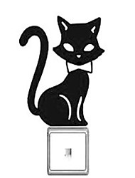 Switch Wall Stickers Wall Decals, Cartoon Cat  PVC Switch Sticker