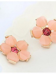 Tina -- Korean Sweet Resin Flower Fashion Stud Earring in Party (2 Pcs)