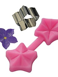 FOUR-C Silicone Mold Flower Cupcake Decor Mold Color Pink