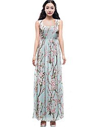 Women's Beach Micro Elastic Sleeveless Maxi Dress (Chiffon)