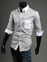 la correspondance des couleurs à manches longues chemise hommes