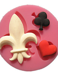Poker Black Plum Red Heart Joker Shape Fondant Cake Molds Decoration Chocolate Mould For The Kitchen Baking For Sugar